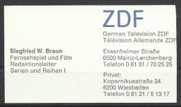 ZDF ,German Television, Mainz. - Tarjetas De Visita