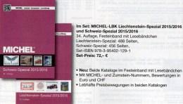 LBK/MICHEL Schweiz+Liechtenstein Spezial Briefmarken Katalog 2015/2016 Neu 72€ Mit Genf UNO Ämter Catalogues Of Helvetia - Sammlungen