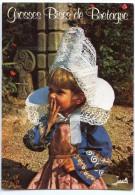 Folklore De Bretagne - Fillette En Costume De FOUESNANT - écrite Non Timbrée - 2 Scans - Bretagne