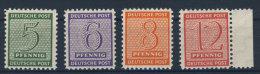 West Sachsen Michel No. 120 - 123 ** postfrisch