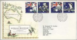 GB 1988 AUSTRALIA BI-CENTENARY FDC SG 1396-99 MI 1151-54 SC 1217-20 IV 1315-1318 - Covers & Documents