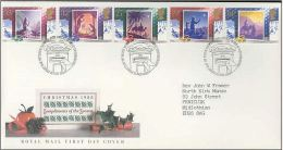 GB 1988 CHRISTMAS FDC SG 1414-18 MI 1180-84 SC 1234-38 IV 1358-1362 - Covers & Documents