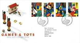 GB 1989 TOYS FDC SG 1436-9 MI 1202-05 SC 1256-59 IV 1380-83 - Covers & Documents