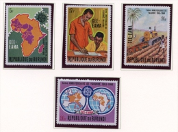 Burundi, 1969, Economic Cooperation, MNH Perforated Set, Michel 480-483A - Non Classés