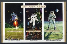 Burundi, 1969, Space, Apollo, MNH Imperforated Souvenir Sheet, Michel Block 37B - Non Classés