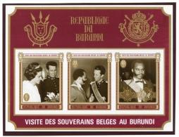 Burundi, 1970, Belgian Royal Visit, MNH Imperforated Souvenir Sheet, Michel Block 45B - Non Classés