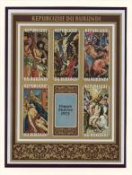 Burundi, 1972, Easter, Paintings, MNH Imperforated Souvenir Sheet, Michel Block 60B - Non Classés
