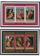 Burundi, 1972, Christmas, Paintings, MNH Imperforated Souvenir Sheets, Michel Block 66-67B - Non Classés