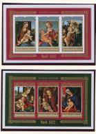 Burundi, 1972, Christmas, Paintings, MNH Imperforated Souvenir Sheets, Michel Block 64-65B - Non Classés