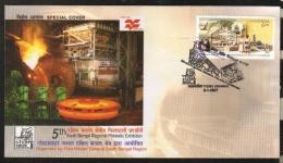 India  2007  Industries  Durgapur Steel Plant  ASANSOL  Special Cover # 87594 Inde Indien - Factories & Industries