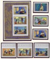 Burundi, 1973, Livingstone, Stanley, MNH Imperforated Set And Sheet, Michel 911-916B, Block 68B - Burundi