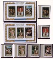 Burundi, 1973, Easter, Paintings, MNH Imperforated Set And Sheets, Michel 920-925B, Block 69-70B - Burundi