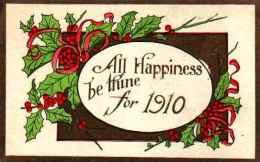 Année Date Millesime - 1910 - Houx - Neujahr