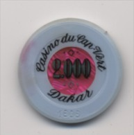 Jetons De Casino Cap Vert Dakar 2000 - Casino
