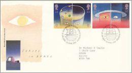 GB 1991 SPACE FDC SG 1560-63 MI 1337-40 SC 1374-77A IV 1543-1546 - 1952-.... (Elizabeth II)