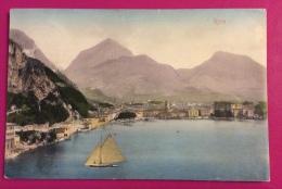 VELA - RIVA DEL GARDA 1907 - Barca A Vela Solitaria ... ANTICA CARTOLINA  EDITA DA STENGEL & C. DRESDEN  - VIAGGIATA - Voile