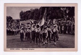 Cartolina/postcard Addis Abeba - Gioventù Etiopica. Ed. Società Italo Africana (Etiopia) - Ethiopia