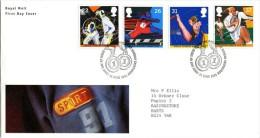 GB 1991 SPORT FDC SG 1564-67 MI 1341-44 SC 1378-81 IV 1547-1550 - 1952-.... (Elizabeth II)