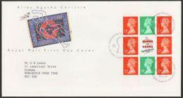 GB 1991 FROM AGATA CHRISTIE BOOKLET PANE FDC - 1952-.... (Elizabeth II)