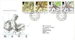 GB 1991 ORDENANCE SURVEY FDC SG 1578-81 MI 1363-66 SC 1393-95 IV 1568-1571 - 1952-.... (Elizabeth II)
