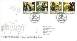 GB 1992 CIVIL WAR FDC SG 1620-23 MI 1405-08 SC 1454-57 IV 1624-1627 - 1952-.... (Elizabeth II)