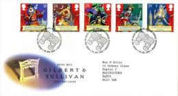GB 1992 GILBERT & SULLIVAN FDC SG 1624-28 MI 1409-13 SC 1458-62 IV 1628-1632 - 1952-.... (Elizabeth II)