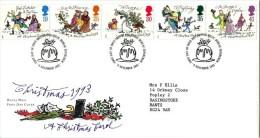 GB 1993 CHRISTMAS FDC SG 1790-94 MI 1483-87 SC 1528-32 IV 1704-1708 - 1952-.... (Elizabeth II)