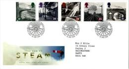 GB 1994 STEAM RAILWAY FDC SG 1795-99 MI 1488-92 SC 1533-37 IV 1733-1737 - 1952-.... (Elizabeth II)