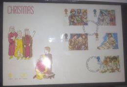GB 1994 CHRISTMAS FDC SG 1843-47 MI 1539-43 SC 1581-85 IV 1784-1788 - 1952-.... (Elizabeth II)