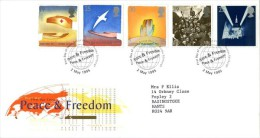 GB 1995 EUROPA PEACE & FREEDOM FDC SG 1873-77 MI 1571-75 SC 1611-15 IV 1817-1818 - 1952-.... (Elizabeth II)