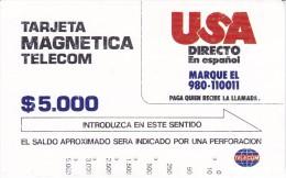 TARJETA DE COLOMBIA DE TELECOM DE $5000 USA DIRECTO EN ESPAÑOL - Colombia