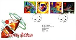 GB 1995 SCIENCE FICTION FDC SG 1878-81 MI 1576-79 SC 1616-19 IV 1822-1825 - 1952-.... (Elizabeth II)