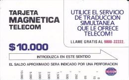 TARJETA DE COLOMBIA DE TELECOM DE $10000 UTILICE EL SERVICIO DE TRADUCCION - Colombia