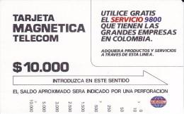 TARJETA DE COLOMBIA DE TELECOM DE $10000 UTILICE GRATIS EL SERVICIO 9800 - Colombia