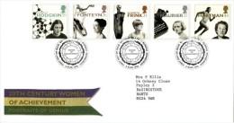 GB 1996 WOMEN OF ACHVIEVMENT FDC SG 1935-39 MI 1647-51 SC 1693-97 IV 1905-1909 - 1952-.... (Elizabeth II)