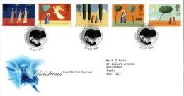 GB 1996 CHRISTMAS FDC SG 1950-54 MI 1662-66 SC 1708-12 IV 1920-1924 - 1952-.... (Elizabeth II)