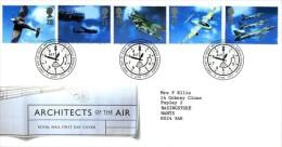 GB 1997 ARCHITECTS OF THE AIR FDC SG 1984-88 MI 1696-700 SC 1758-62 IV 1967-1971 - 1952-.... (Elizabeth II)