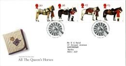 GB 1997 HORSES FDC SG 1989-92 MI 1701-04 SC 1763-66 IV 1972-1975 - 1952-.... (Elizabeth II)