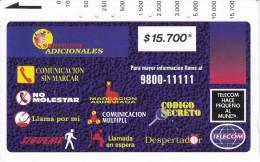 TARJETA DE COLOMBIA DE TELECOM DE $15700 SERVICIOS ADICIONALES - Colombia