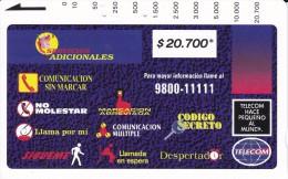 TARJETA DE COLOMBIA DE TELECOM DE $20700 SERVICIOS ADICIONALES - Colombia