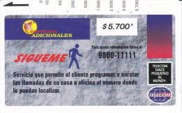 TARJETA DE COLOMBIA DE TELECOM DE $5700 SIGUEME (RARA) - Colombia