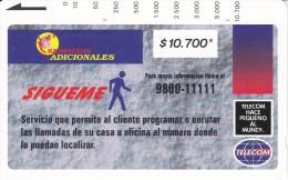 TARJETA DE COLOMBIA DE TELECOM DE $10700 SIGUEME (RARA) - Colombia