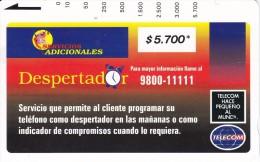TARJETA DE COLOMBIA DE TELECOM DE $5700 DESPERTADOR - Colombia