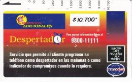 TARJETA DE COLOMBIA DE TELECOM DE $10700 DESPERTADOR - Colombie