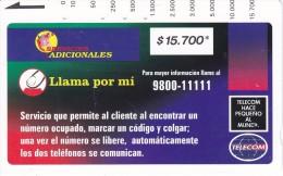 TARJETA DE COLOMBIA DE TELECOM DE $15700 LLAMA POR MI (RARA) - Colombia