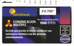 TARJETA DE COLOMBIA DE TELECOM DE $5700 COMUNICACION MULTIPLE (RARA) - Colombia