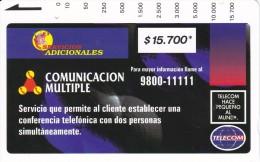 TARJETA DE COLOMBIA DE TELECOM DE $15700 COMUNICACION MULTIPLE (RARA) - Colombia