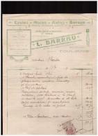 Facture BARRAU (toulouse) Cycles Motosd Autos.. 1917 (PPP1533) - Transport