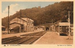 57  LUTZELBOURG         La Gare Et  Le Château - France