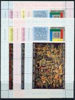 Burundi, 1966,, UNESCO Tapestry, 6 MNH Perforated Souvenir Sheets, Michel Block 11-16A - Non Classés